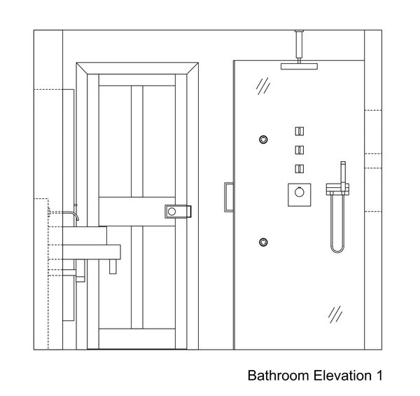 Toilet Elevation Plan : Bathroom drawings kent griffiths design