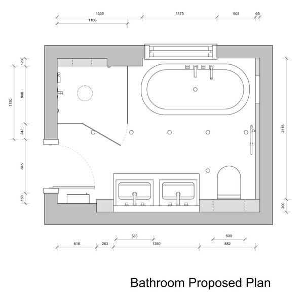 Gallery For Bathroom Drawings Design