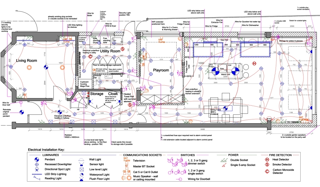 Electrical And Lighting Plans Kent Griffiths Design