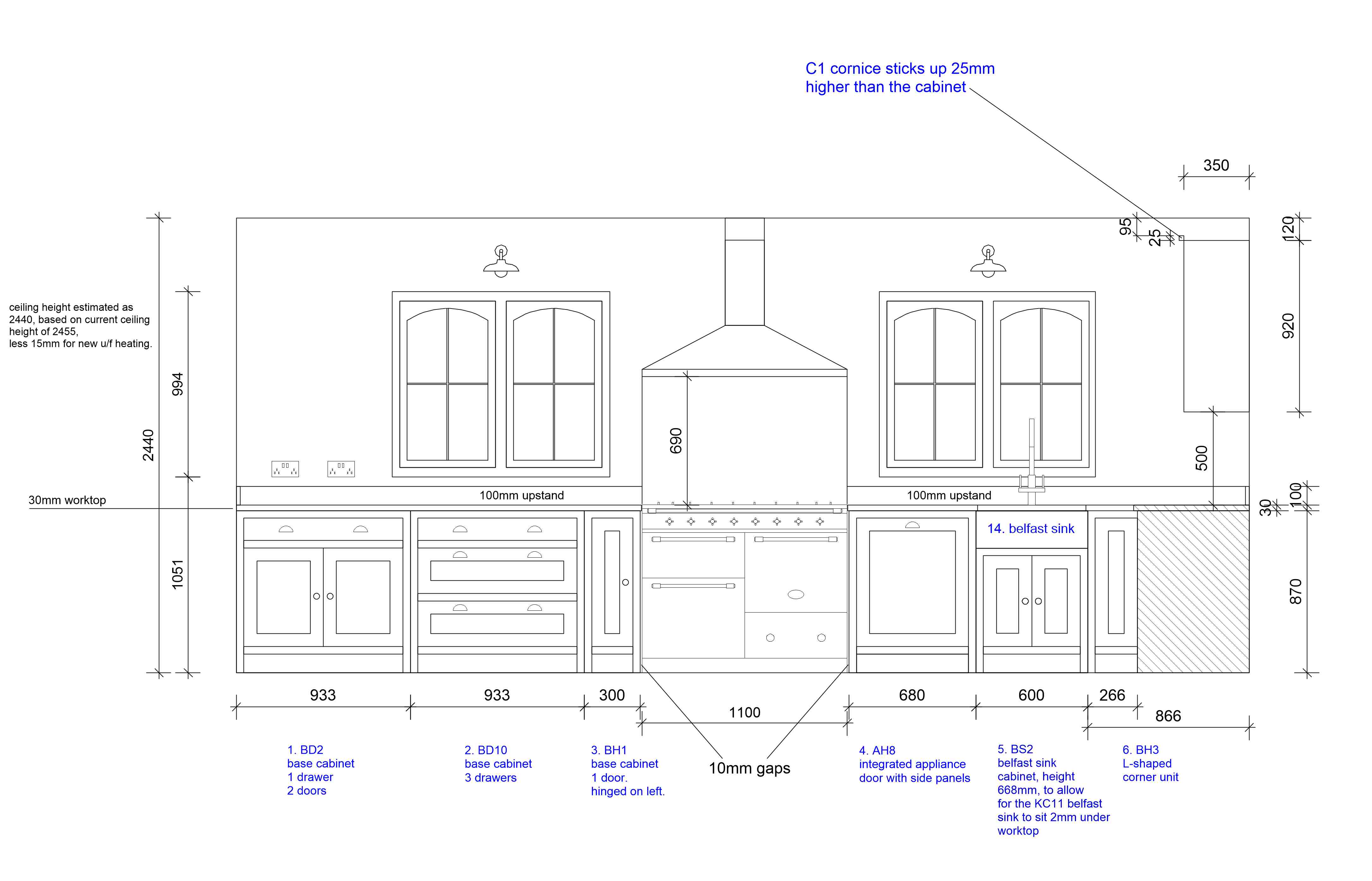 Kitchen Drawings Kent Griffiths Design